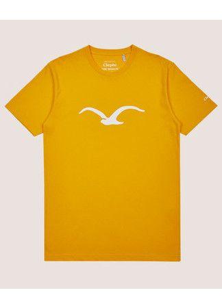 Cleptomanicx T-Shirt Möwe golden rod